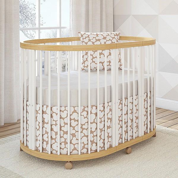 Кроватка-трансформер Giovanni Shapito TreeO 6 в 1 Natural White