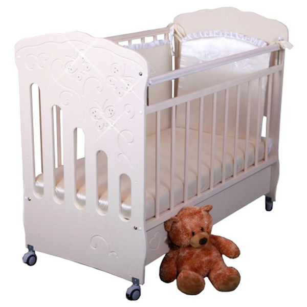 Детская кроватка Островок уюта Бабочки (маятник поперечный)
